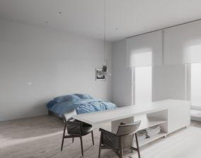 3D model Minimalist Apartment scene for Cinema 4D and 1