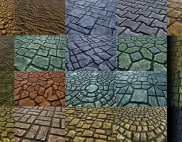 3d hand-painted textures pack