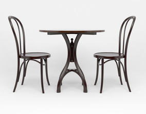 3D table and chairs furniture