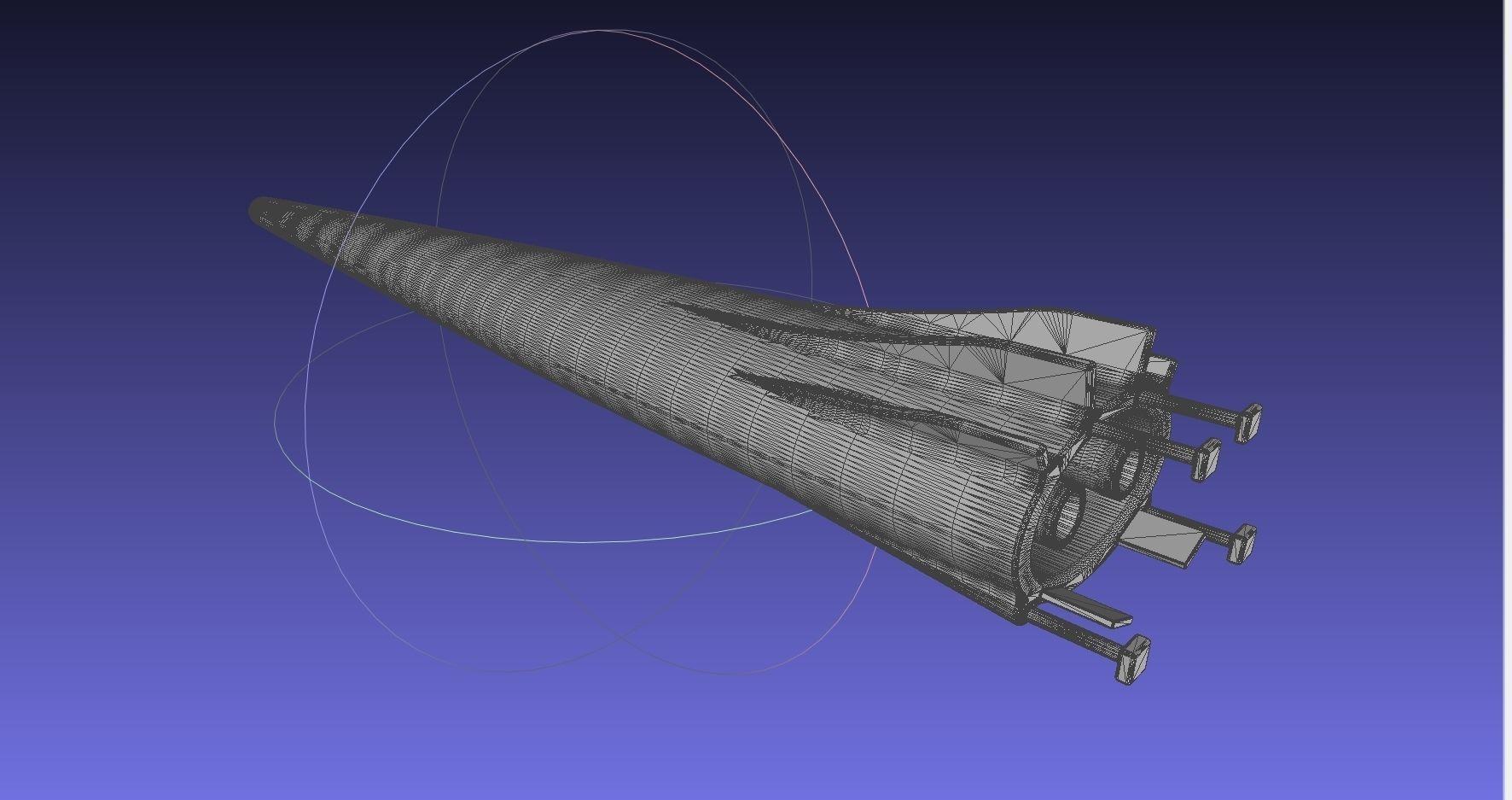 Small SSTO Rocket Concept Printable Miniature