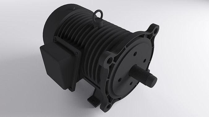 ac motor 3d model low-poly max obj mtl 3ds fbx mat 1