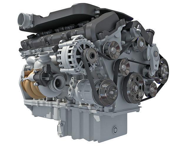 british v12 engine 3d model max obj mtl 3ds c4d lwo lw lws ma mb 1