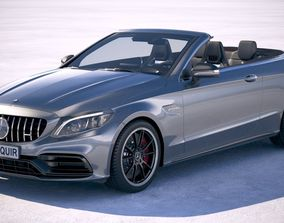 Mercedes C63 S AMG Cabriolet 2019 3D