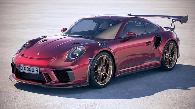 porsche 911 gt3 rs 2019 3d model max obj mtl 3ds fbx c4d lwo lw lws 1