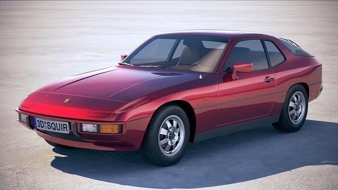 porsche 924 1976-1988 3d model max obj mtl 3ds fbx c4d lwo lw lws 1
