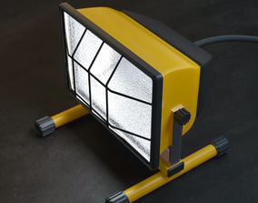 3D asset Construction and Working Lamp
