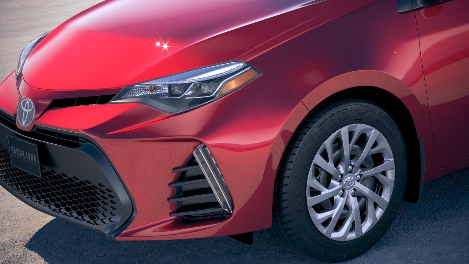 Toyota Corolla Usa 2017 Model Max Obj Mtl S Fbx C4d Lwo Lw Lws 3