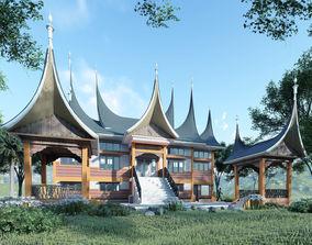 3D model Indonesian culture rumah gadang minangkabau