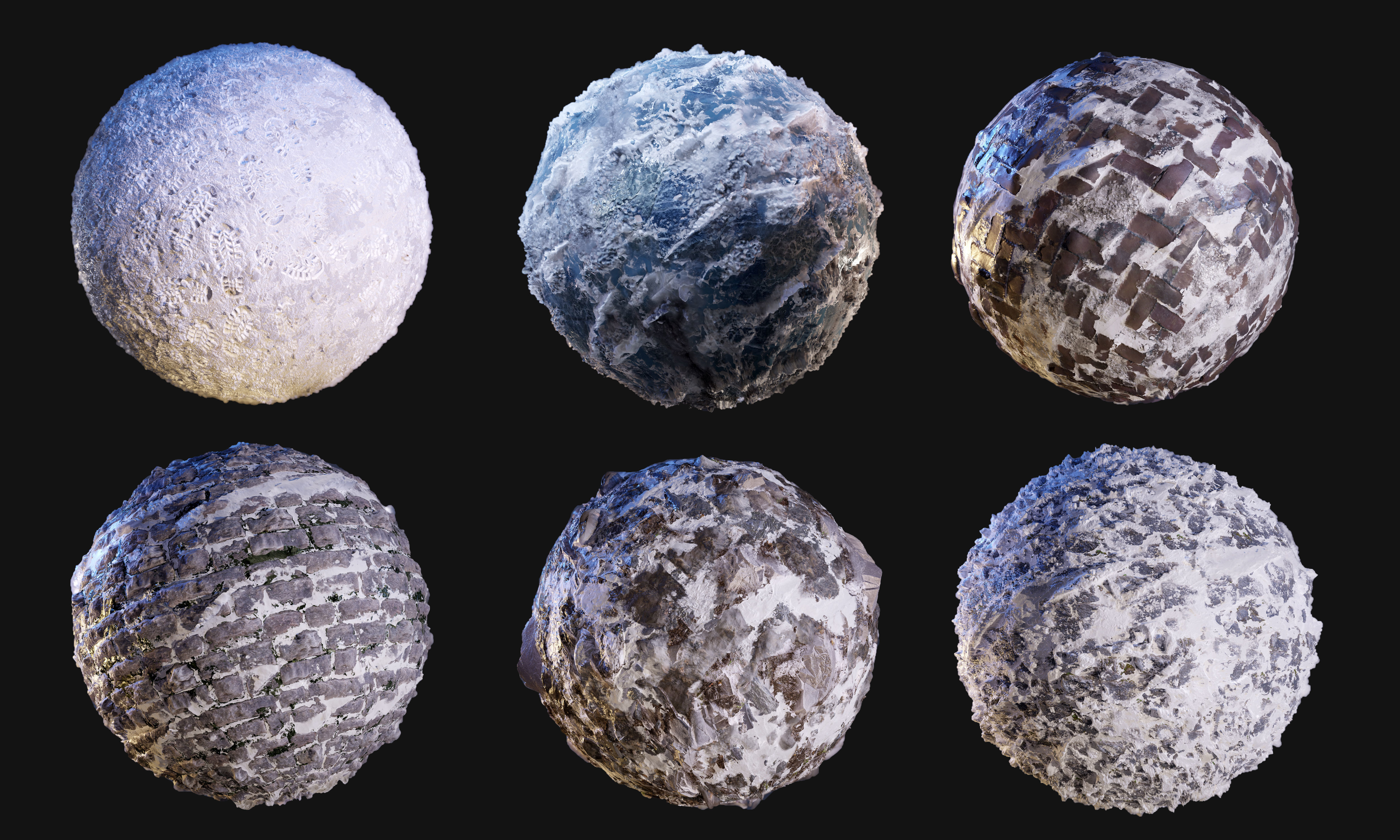 Snow Ice Seamless PBR Texture Pack | Texture