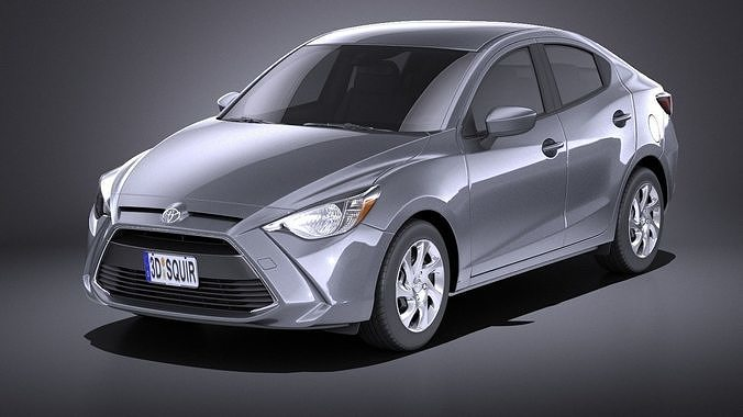 Toyota Yaris Sedan 2017 Vray Model