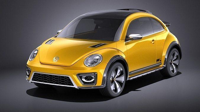 volkswagen beetle dune concept 2014 vray 3d model max obj mtl 3ds fbx c4d lwo lw lws 1