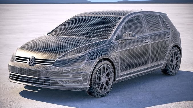 Volkswagen Golf Tdi 2017 Model Max Obj Mtl S Fbx C4d Lwo Lw Lws 21