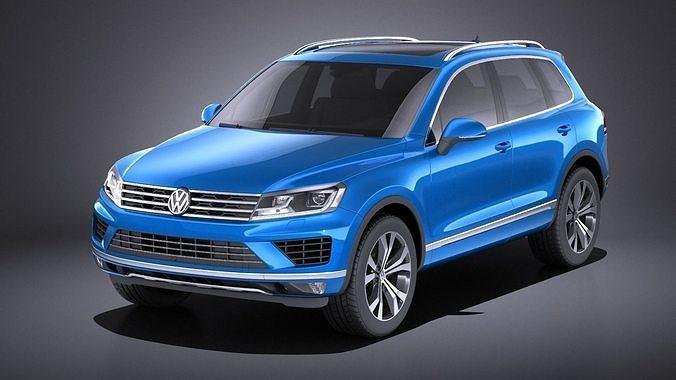 Volkswagen Touareg 2016 Vray Model Max Obj Mtl S Fbx C4d Lwo Lw Lws 1