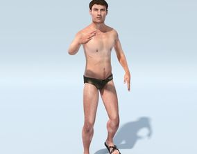 FREE Gristov in Swimming Trunks 3D