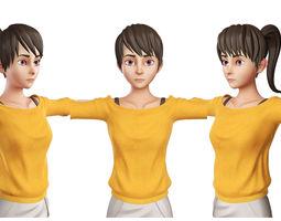 Teen Girl Orange 3D model