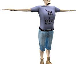 Man Body Builder 3D model