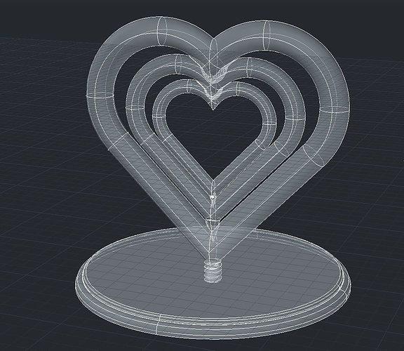 a nice rotating hearts statue 3d model stl 1