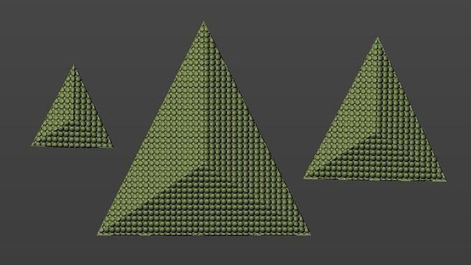 pyramid pendant 3d model stl 3dm 1