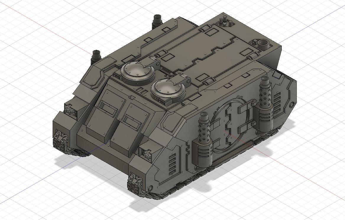 Rhino Deimos patter transport | 3D Print Model