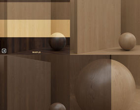 3D model Wood material Maple seamless