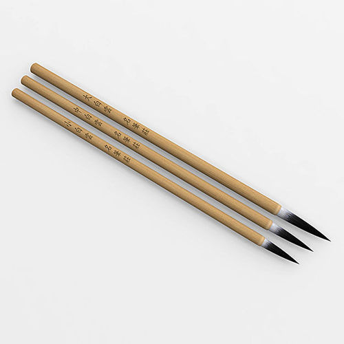 Chinese calligraphy brush pen with holder 3d model max obj Chinese calligraphy pens