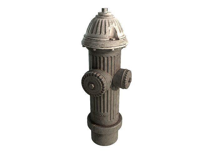 old fire hydrant 3d model low-poly max obj mtl fbx tga 1