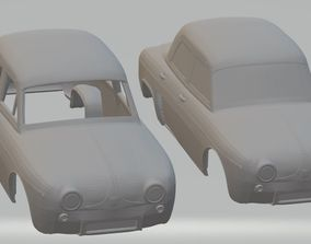 Renault Dauphine Printable Body Car hobby