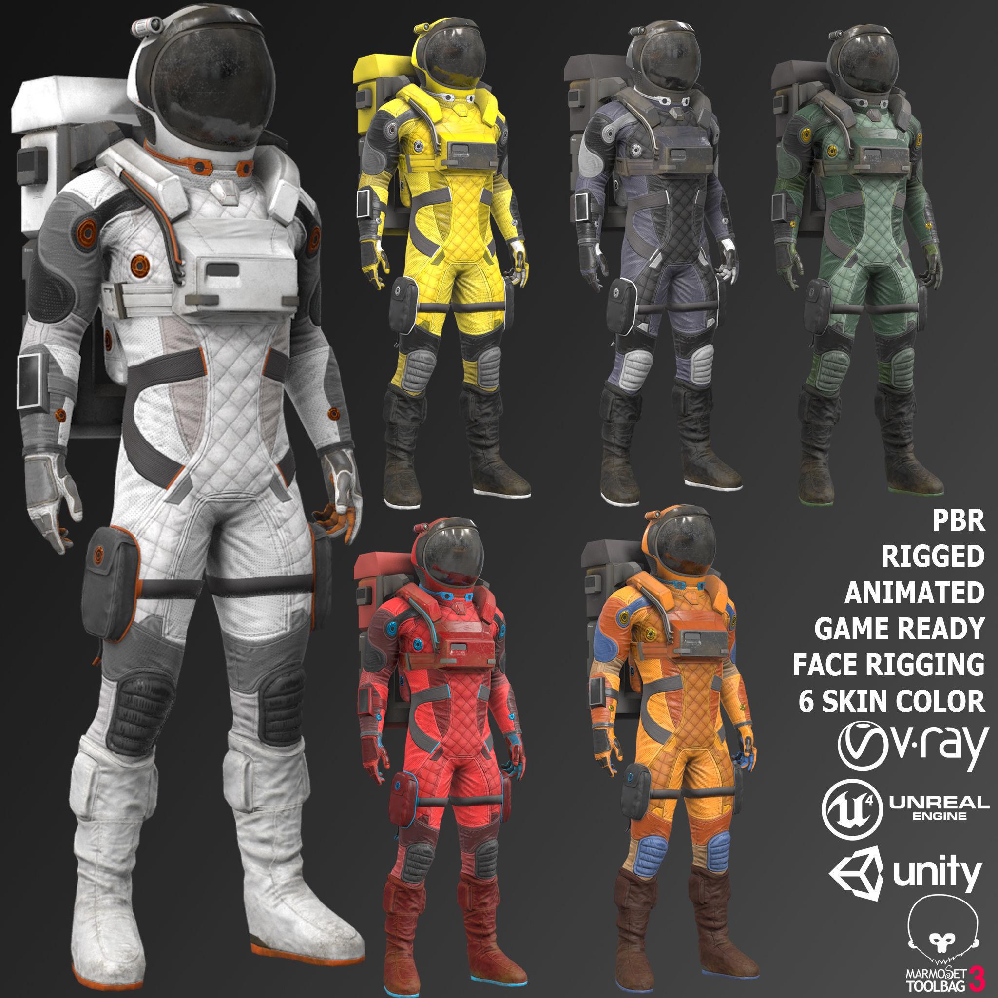 MX02 Male Space Suit