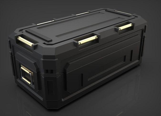 sci-fi military container 3d model obj mtl fbx c4d ma mb blend 1