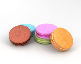 French Macarons 3D model