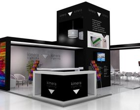 Exhibition stand 10x7 3D model