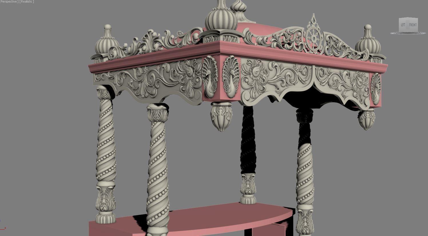 Decor arch church  3D print model