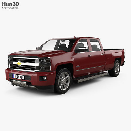chevrolet silverado 2500hd crew cab long box high country 2017 3d model max obj mtl 3ds fbx c4d lwo lw lws 1