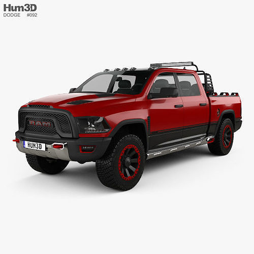 dodge ram 1500 rebel trx 2017 3d model max obj mtl 3ds fbx c4d lwo lw lws 1