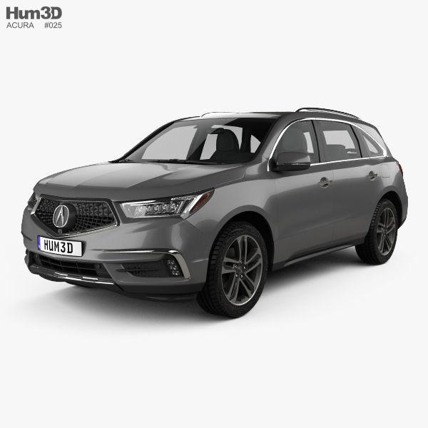 3D Model Acura MDX Sport Hybrid 2017