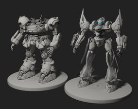 3D model armored core robot 2