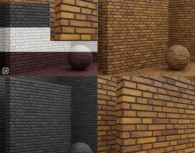 Materials seamless - Bricks - Tiles 3D