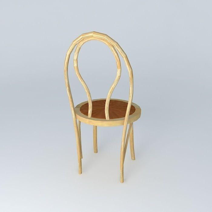 Bent Wood Cafe Chair Free 3d Model Max Obj 3ds Fbx Stl Dae