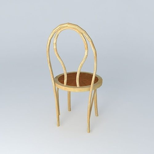 Bent Wood Cafe Chair Free 3d Model Max Obj 3ds Fbx Stl Dae
