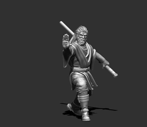 light side knight 3D print model - 35 mm scale