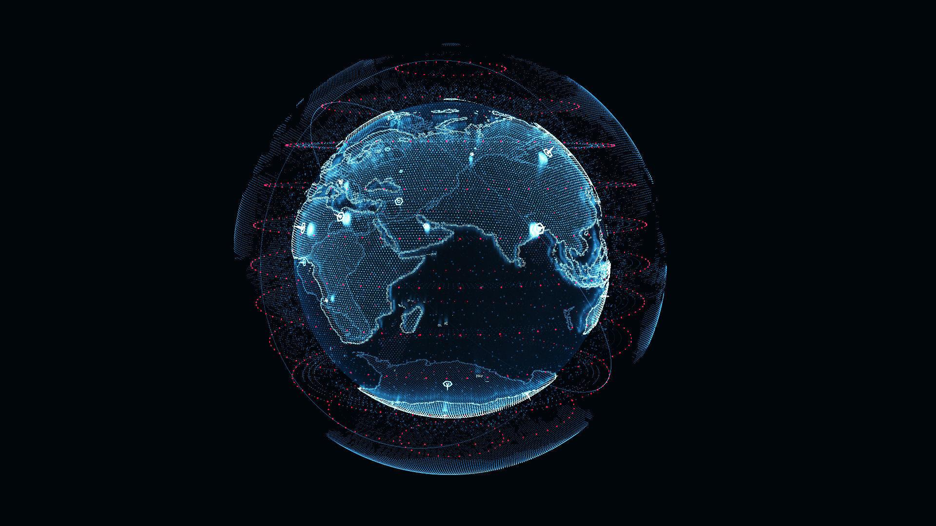 Animated Hologram Planet Earth v2