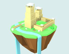 Floating Island by RICHARD HIND 3D asset