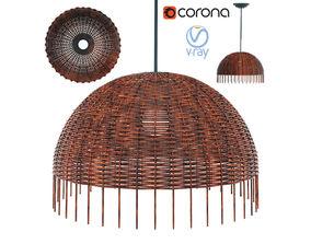 Lamp Croco 95 Gervasoni Woven Rattan Paola Navone 3D