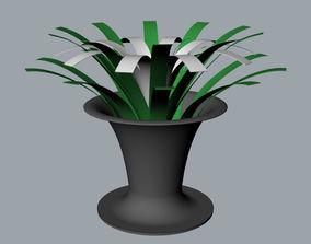Orchid decorative vase 3D Model