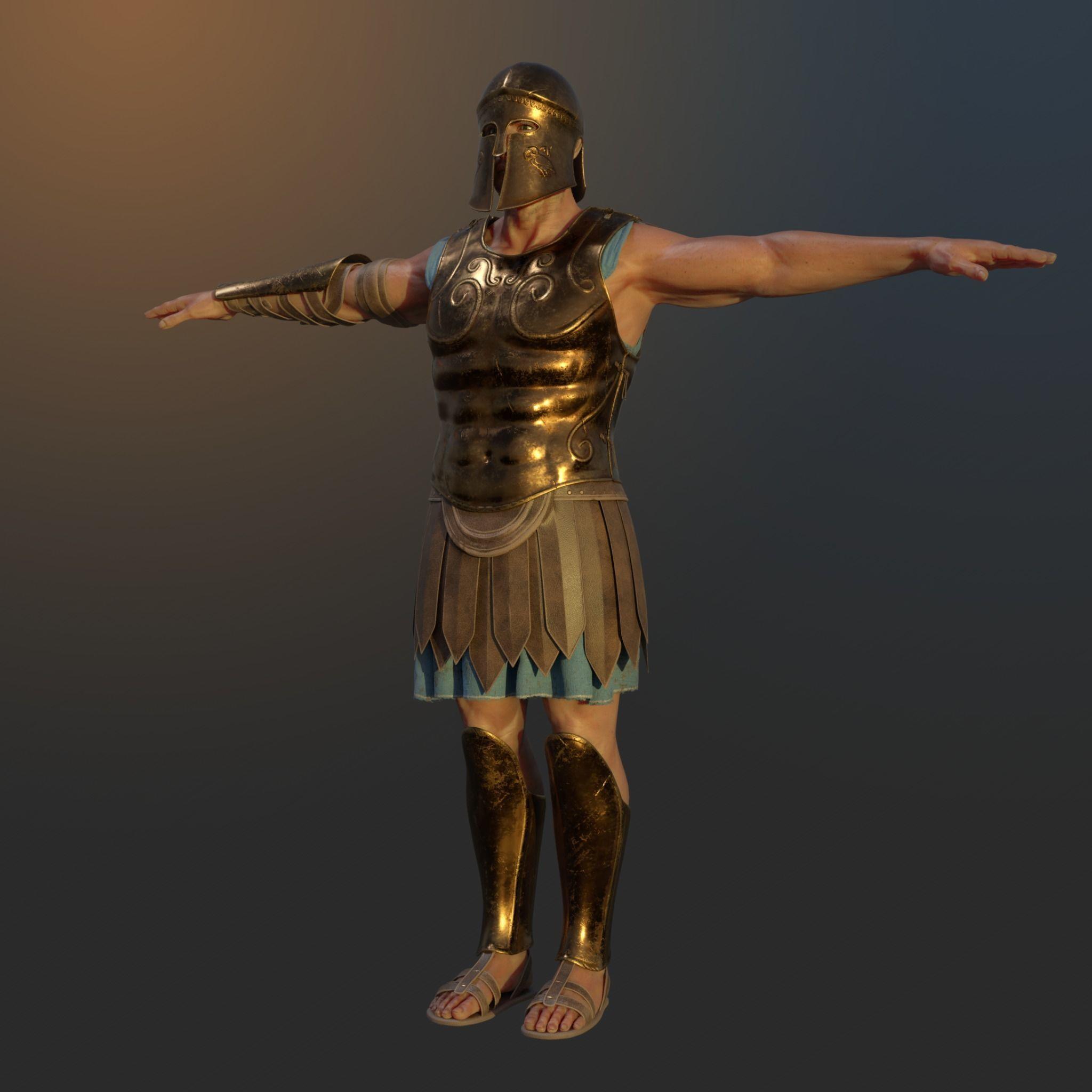 Ancient Greek Hoplite Warrior
