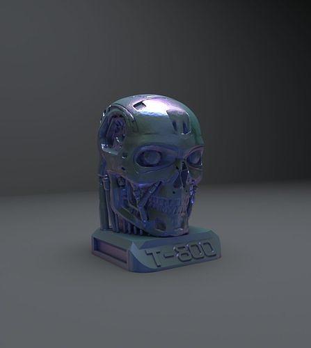 terminator t-800 skull bust 3d model 3d model max obj mtl 3ds fbx mat 1