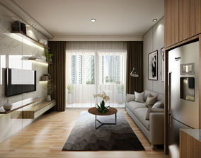 Apartement One Bedroom Modern 3D