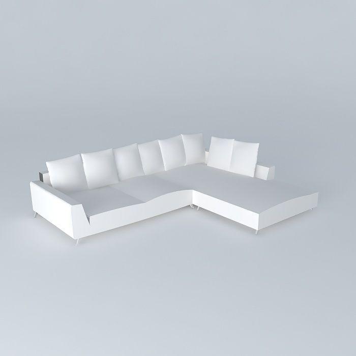 Sofa 6p Fixed Angle Ivory City Maisons Du Monde 3d Model Max Bip Obj