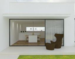 minimalist house 3d