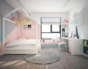 Apartment Kid Bedroom Modern 3D